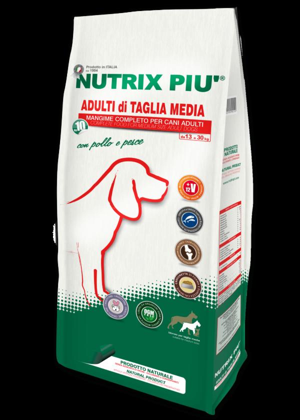 Crocchette Nutrix Più Taglia Media 10 kg per Cani