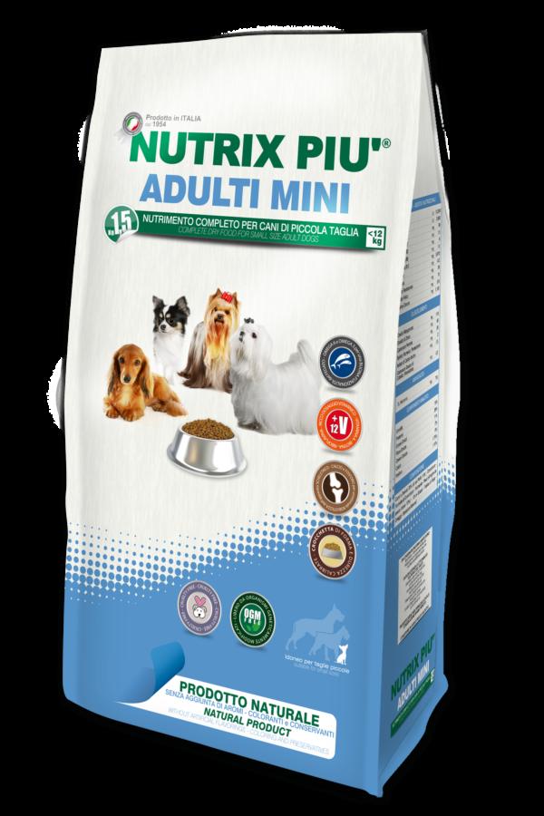 Crocchette Nutrix Più Taglia Mini 1.5 kg per Cani
