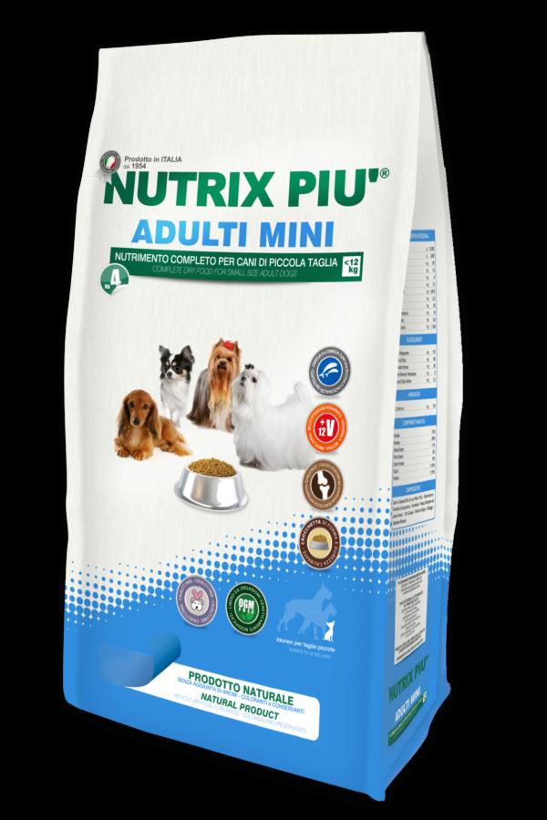Crocchette Nutrix Più Taglia Mini 4 kg per Cani